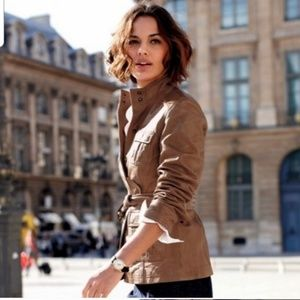 🎉Boden Brown Leather Belted Moto Jacket🎉